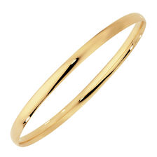 Oval Bangle in 10ct Yellow Gold