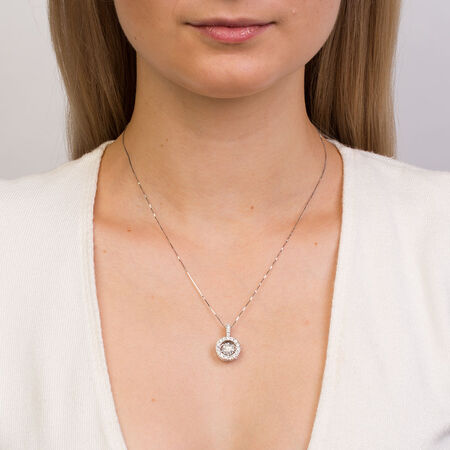 Everlight Pendant with 1 1/2 Carat TW of Diamonds in 14ct White Gold