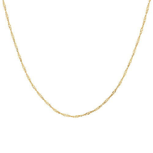 """55cm (22"""") Hollow Singapore Chain in 10ct Yellow Gold"""