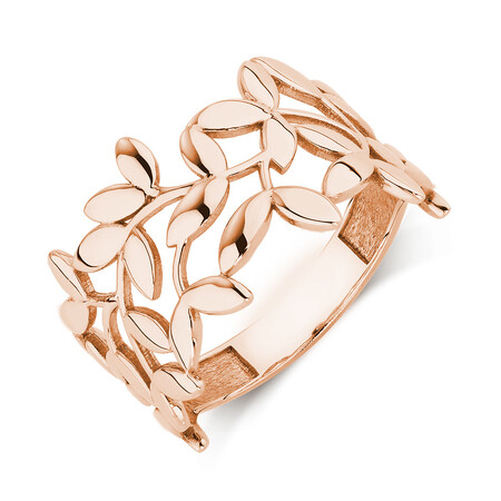 Olive Leaf Ring in 10ct Rose Gold