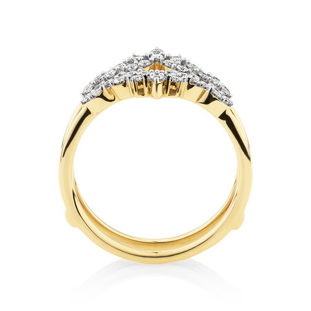 Evermore Ring with 0.33 Carat TW of Diamonds in 10ct Yellow Gold