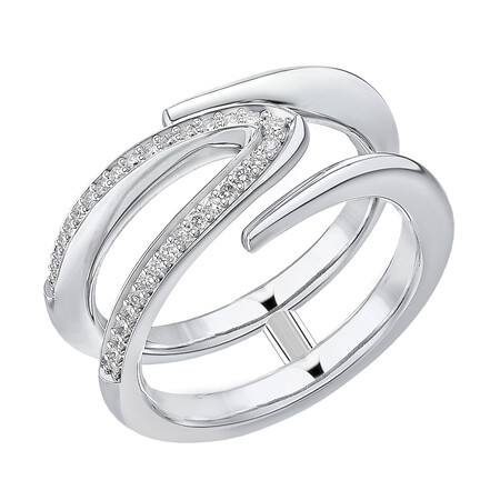 Mark Hill Wishbone Ring with 0.16 Carat TW of Diamonds in Sterling Silver