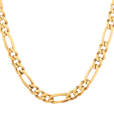 "55cm (22"") Figaro Chain in 10ct Yellow Gold"