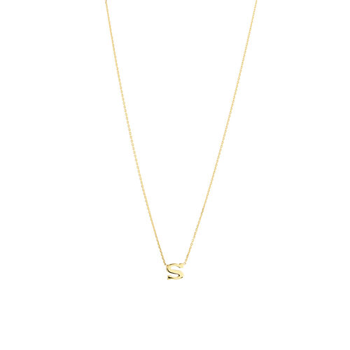"""S"" Initial Necklace in 10ct Yellow Gold"