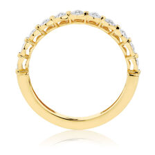 Diamond Set Stacker Ring in 10ct Yellow Gold