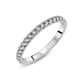 Ring with 0.33 Carat TW of Diamonds in 18ct White Gold