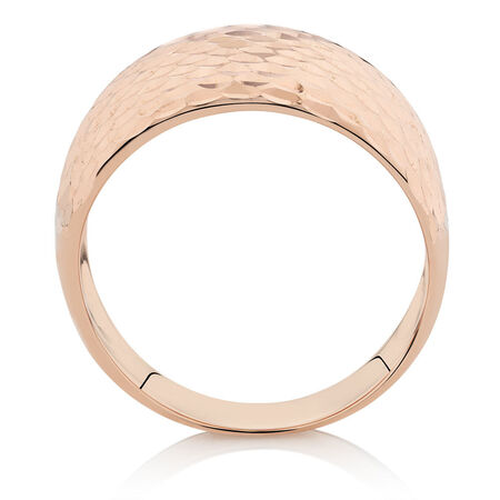 Patterned Ring in 10ct Rose Gold