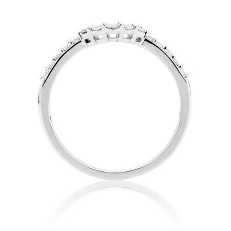 Wedding Band with 1/4 Carat TW of Diamonds in 18ct White Gold