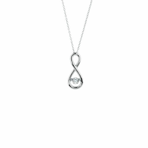 Everlight Pendant with a Diamond in Sterling Silver