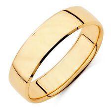 Men S Wedding Band In 10ct Yellow Gold
