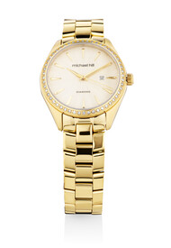 Watch with 0.60 Carat TW of Diamonds in Gold Tone Stainless Steel