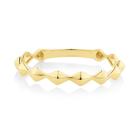 Edge Ring in 10ct Yellow Gold