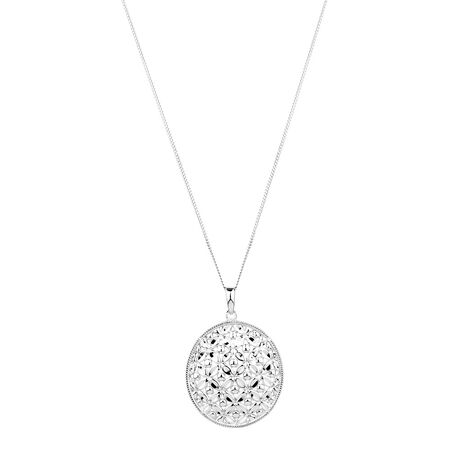 Flower Pendant in Sterling Silver