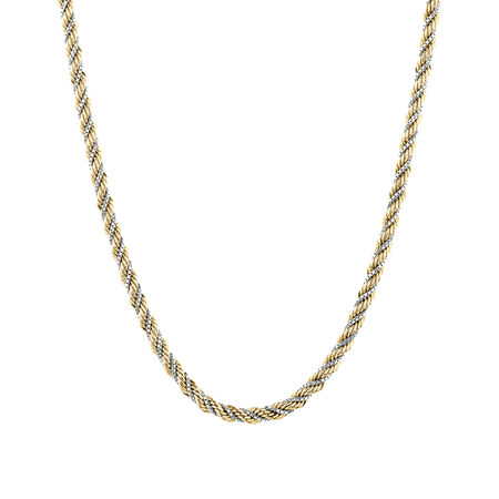 Rope Chain in 10ct Yellow & White Gold