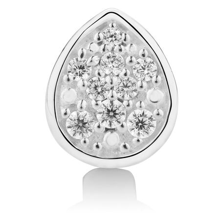 Cubic Zirconia & Sterling Silver Wild Hearts Charm