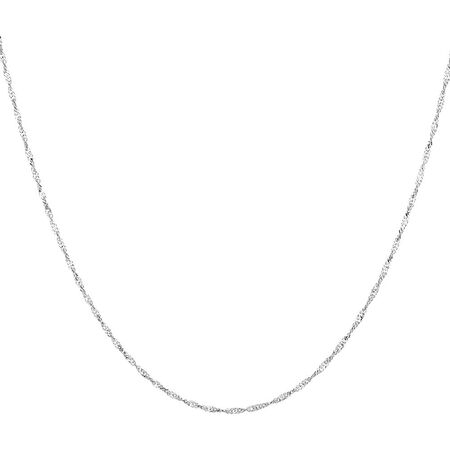 "45cm (18"") Singapore Chain in 14ct White Gold"