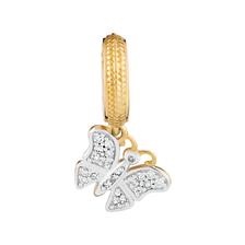 Diamond Set & 10ct Gold Butterfly Charm