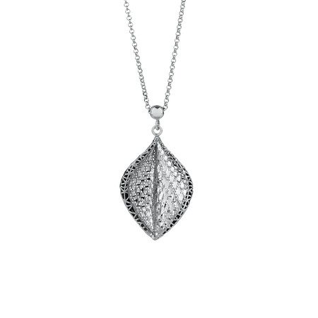 Twisted Leaf Pendant in Sterling Silver