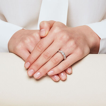 Online Exclusive - Three Stone Engagement Ring with 1/2 Carat TW of Diamonds in 14ct White Gold