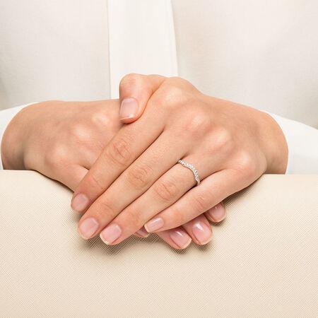 Michael Hill Designer Adagio Wedding Band with 0.39 Carat TW of Diamonds in 14ct White Gold