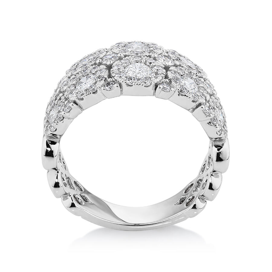 Bubble Ring with 2 Carat TW of Diamonds in 14ct White Gold