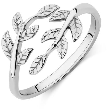 Leaf Ring in Sterling Silver