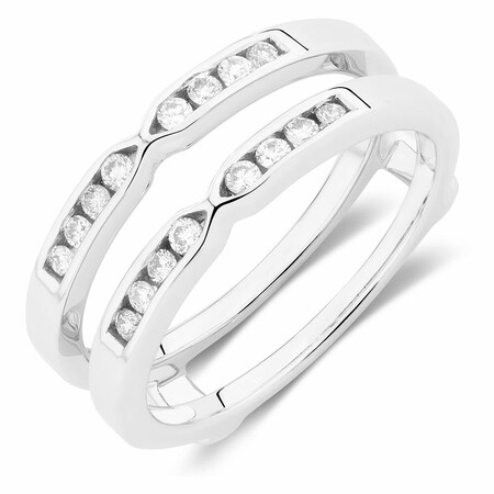 Enhancer Ring with 1/4 Carat TW of Diamonds in 10ct White Gold