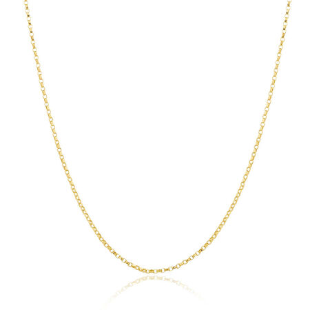 "40cm (16"") Belcher Chain in 10ct Yellow Gold"