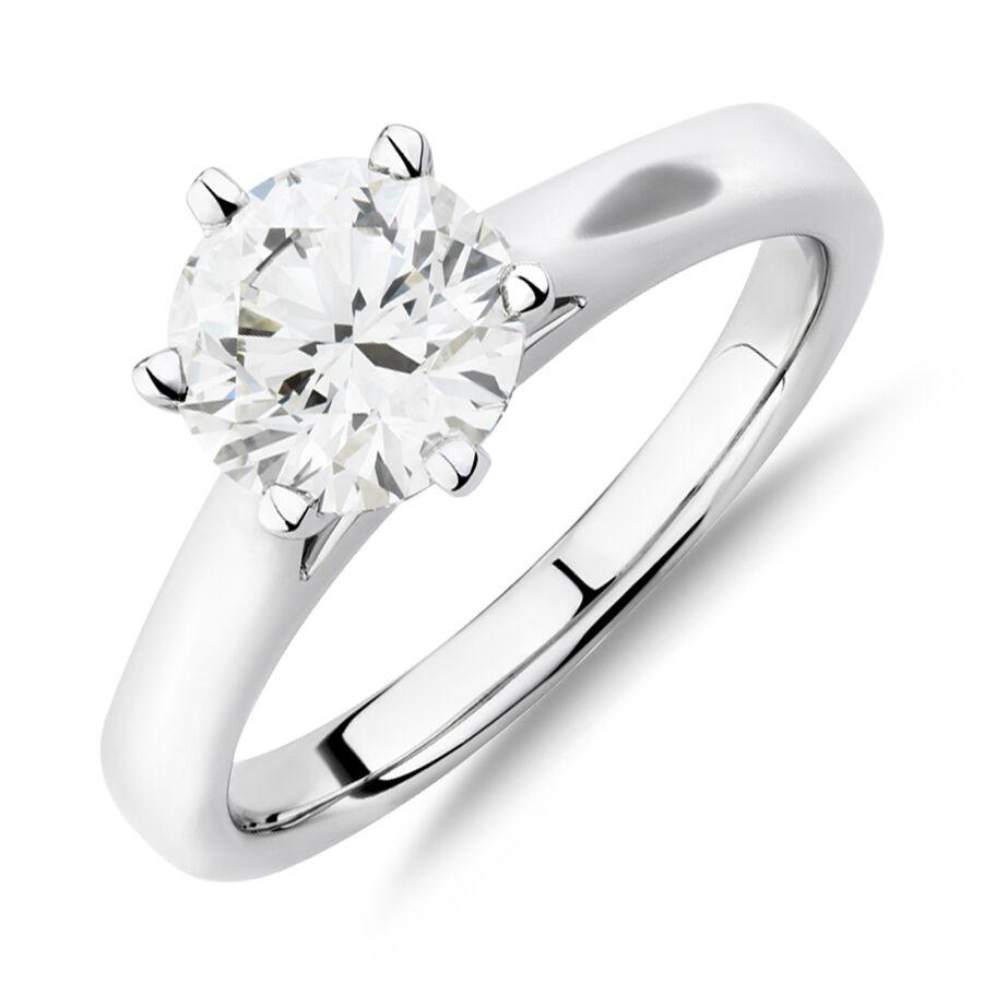 1.50 Carat TW of Diamond Ring in 14ct White Gold