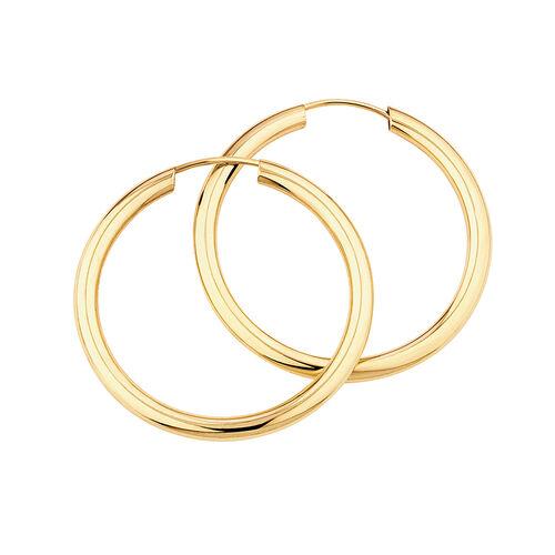 20mm Flexible Clasp Hoop Earrings in 10ct Yellow Gold