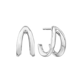 Mark Hill Wishbone Earrings in Sterling Silver
