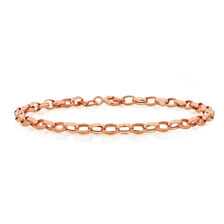 "19cm (7.5"") Belcher Bracelet in 10ct Rose Gold"