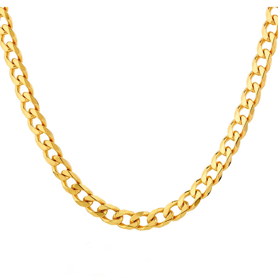 """60cm (24"""") Solid Curb Chain in 10ct Yellow Gold"""