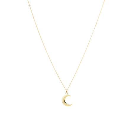 Moon Pendant in 10ct Yellow Gold