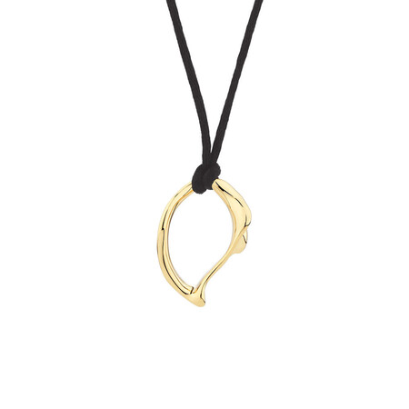 Medium Spirits Bay Solid Pendant in 10ct Yellow Gold