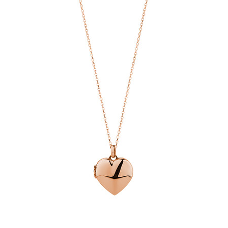 Heart Locket Pendant in 10ct Rose Gold