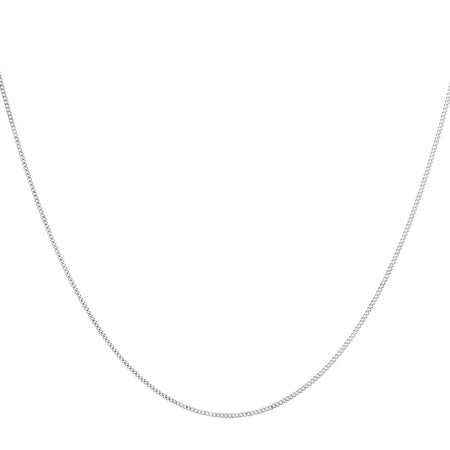 """70cm (27.5"""") Curb Chain in 10ct White Gold"""