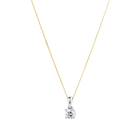 Solitaire Pendant with a 1 Carat TW Diamond in 14ct White Gold