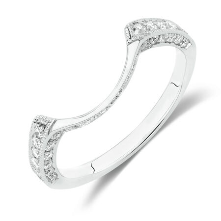 Online Exclusive - Wedding Band with 0.30 Carat TW of Diamonds in 10ct White Gold