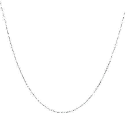 "45cm (18"") Belcher Chain in 10ct White Gold"