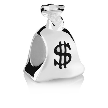 Sterling Silver Money Bag Charm