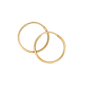 18mm Sleeper Earrings in 10ct Yellow Gold