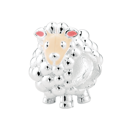 Sterling Silver & Enamel Sheep Charm