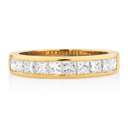 Wedding Band with 1 Carat TW of Diamonds in 18ct Yellow Gold
