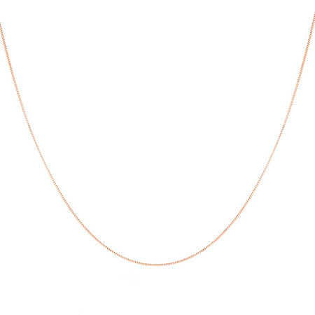 """45cm (18"""") Box Chain in 10ct Rose Gold"""