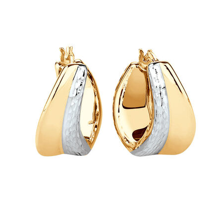 Electroforming Earring in 14ct Yellow & White Gold