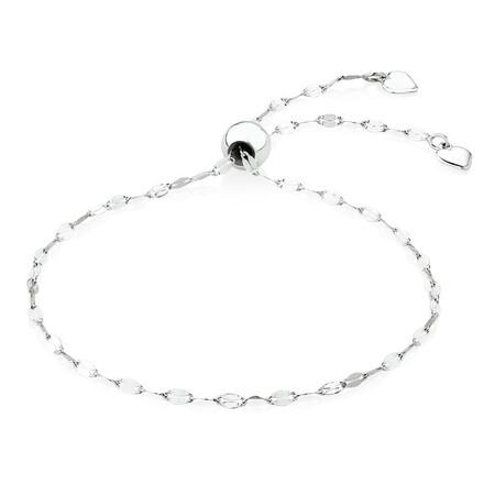 Fancy Bolo Bracelet in Sterling Silver
