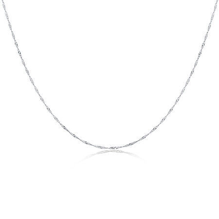"40cm (16"") Singapore Chain in Sterling Silver"