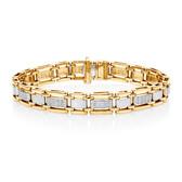 Bracelet with 1/2 Carat TW of Diamonds in 10ct Yellow Gold