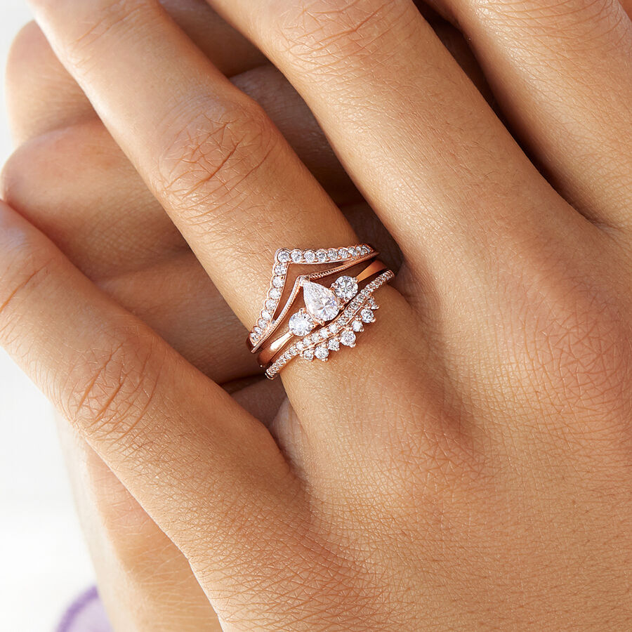 Evermore Wedding Band with 0.23 Carat TW of Diamonds in 10ct Rose Gold